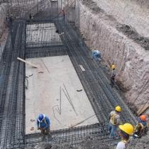 Obras de construcción de la Planta de Tratamiento de Aguas Residuales de Acoyapa