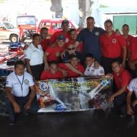 Entrega de equipos a Bomberos Nicaraguenses