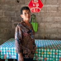 Thelma es vocal del CAPS de Potosí en el Municipio de El Viejo (Chinandega). Fue jefa de cuadrilla en la construcción del sistema y actúa como promotora de género.