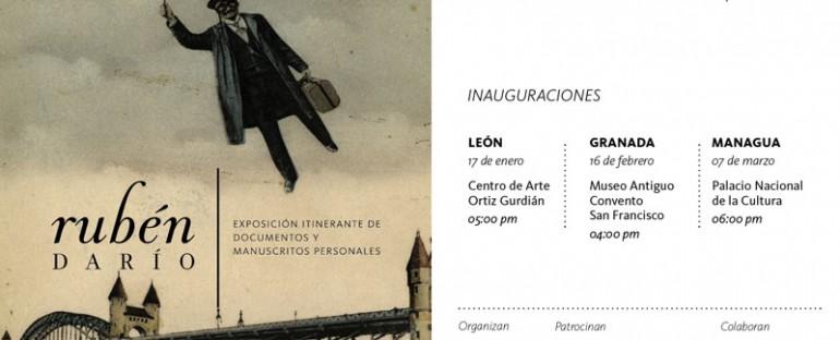 Exposición itinerante de documentos y manuscritos personales del poeta Rubén Darío