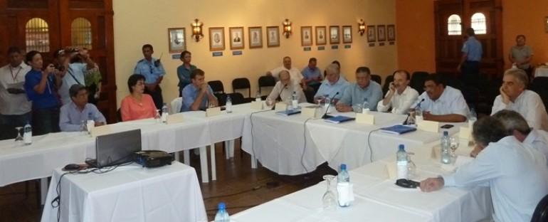 Visita a proyecto del Programa Integral Sectorial de Agua y Saneamiento Humano de Nicaragua (PISASH) en Masaya.