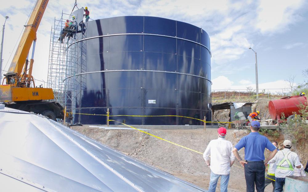 Tanque de almacenamiento de agua potable en Acoyapa, Chontales