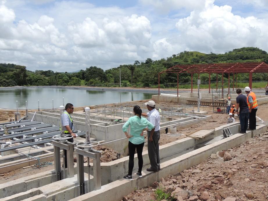 Pie de foto: Obras de la planta de tratamiento de aguas residuales de Acoyapa